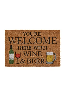 Beer & Wine Coir Doormat