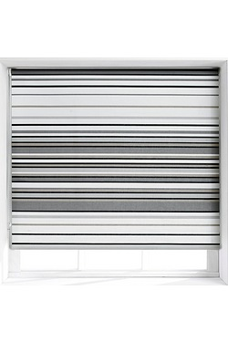 Grey Stripe Roller Blind