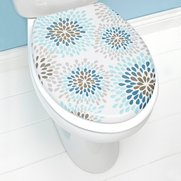 Modern Floral Toilet Seat - Teal