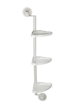 3 Tier Suction Bathroom Corner Shelf