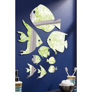 9 Pc Wall Mirror Set Fish
