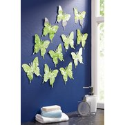 12-Piece Mirror Butterfly Decor