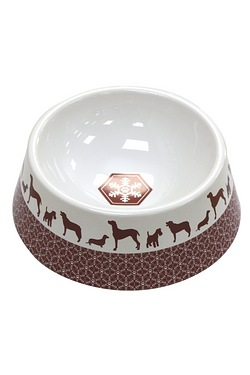Festive Collection Ceramic Dog Bowl