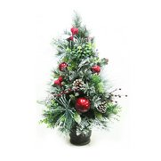 60cm Flocked Table Top Tree