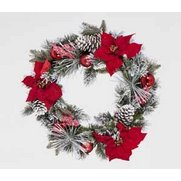 60cm Flocked PVC Wreath