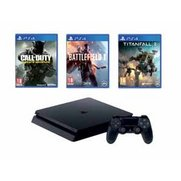 PS4 Slim 500GB Black Console + Call...