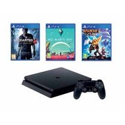 PS4 Slim 500GB Black Console + Unch...