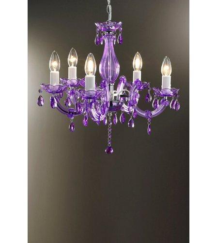 5 arm acrylic chandelier purple studio image for 5 arm acrylic chandelier purple from studio mozeypictures Image collections