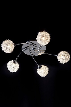 5 Wire Shade Ceiling Light