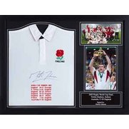 Martin Johnson Signed England Shirt