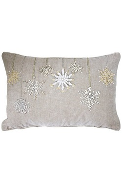 Snowflake Bauble Cushion