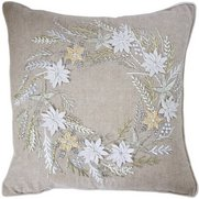 Wreath Hand Embroidered Cushion