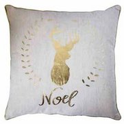 Noel Stag Metallic Printed Cushion