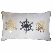 Snowflake Trio Printed Cushion