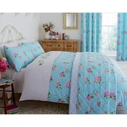 Embroidered Floral Duvet Set