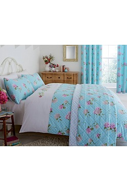 Embroidered Floral Bedspread