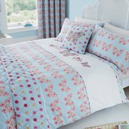 Embroidered Butterfly Bedspread