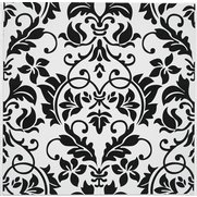 Pack Of 20 Damask Embossed Tile Tra...