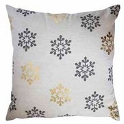 All Over Snowflake Printed Cushion