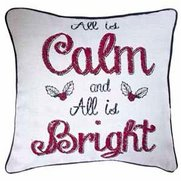 All Is Calm All Is Bright Cushion