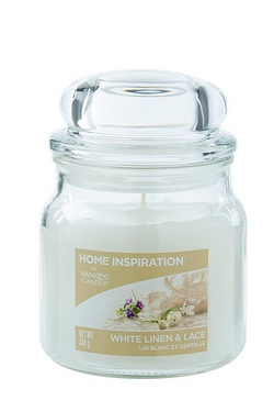 Yankee Medium Jar Candles White Lin...