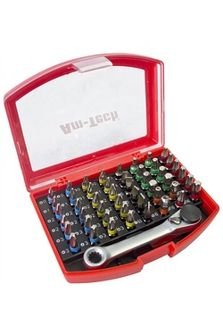 Am-Tech 49 Piece Colour Coded Bit Set