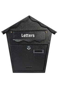 Black Steel Post Box
