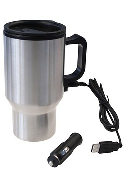 Heated Stainless Steel Travel Mug