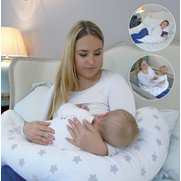 Widgey Grey Stars Nursing Pillow