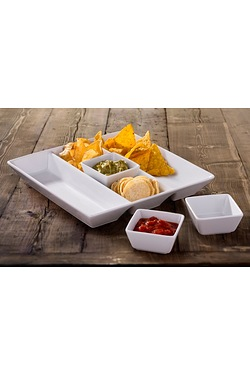4 Piece Chip And Dip Serving Set
