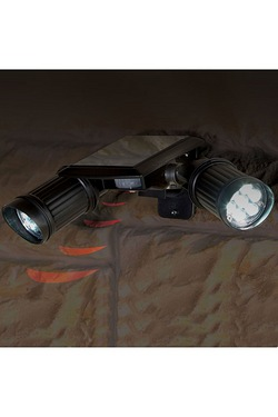 Twin Spot Solar PIR Security Light