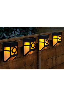 4 Fence Solar Lights