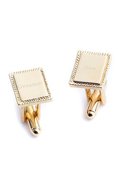 Gold Plated Son Cufflinks