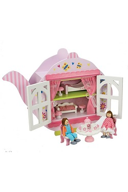 Wooden Tea Pot Dolls House