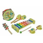 Wooden Musical Instruments Set