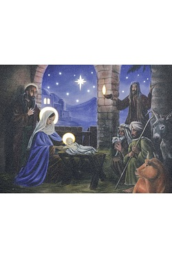 Nativity Scene Wall Canvas