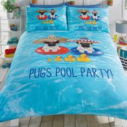 Pug Pool Party Duvet Set
