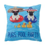 Pug Pool Party Cushion Cover