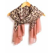 Pink Print Scarf & Butterfly Clip Set