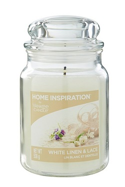 Yankee Candle Large Jar White Linen...