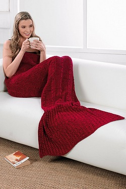 Red Mermaid Blanket