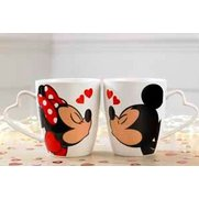 Kissing Minnie & Mickey Mugs