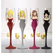 Glitter Lady Champagne Flute