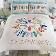Flip Flop Summer Duvet Set