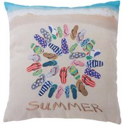Flip Flop Summer Cushion Cover