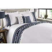Denim Frill Duvet Set