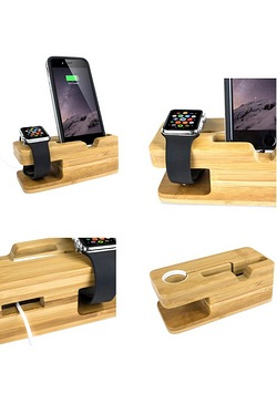 Apple Watch Bamboo Charging Stand W...