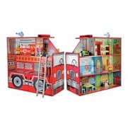 Wooden Fire Engine With Accessories