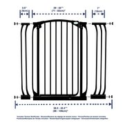 Black 1mtr H Gate + 9 And 18cm Exte...