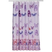 Butterfly Shower Curtain Pink